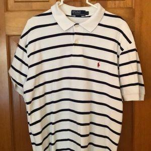 Polo Ralph Lauren Men's Navy Stripe shirt Sz L